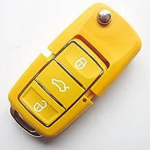 INION® Carcasa de recambio para llave, color a elegir, llave para el coche con 3 botones, llave plegable, hoja de llave tipo HAA, mando a distancia, carcasa sin transpondedor o parte electrónica, para Volkswagen - -