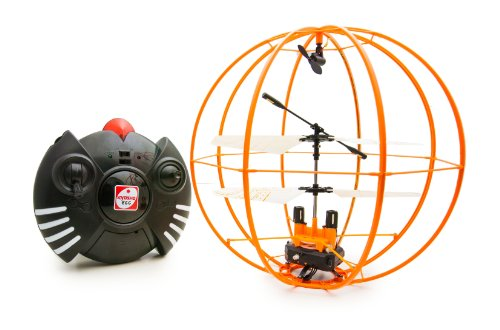 Space Ball - Infrared Remote Control 3CH R/C Flying Helicopter Sphere Gyroscope - Orange Version (japan import)