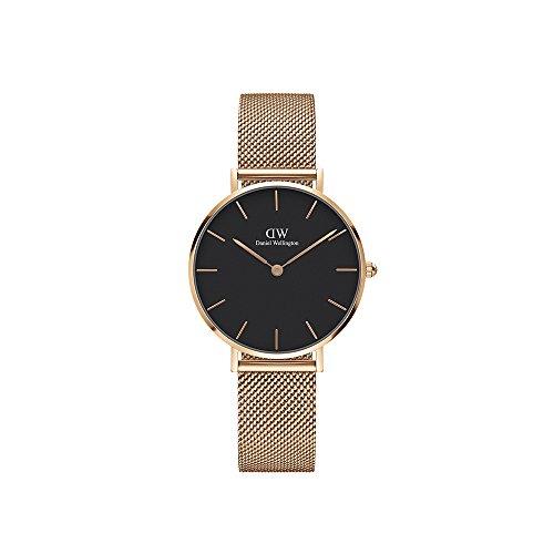 Daniel Wellington Unisex Erwachsene Digital Quarz Uhr mit Edelstahl Armband DW00100161 - Damen-uhr Für Büro