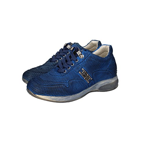 cesare-paciotti-4us-girl-fashion-sneakers-12-uk-31-eu-kids-blue-synthetic-leather-dz86