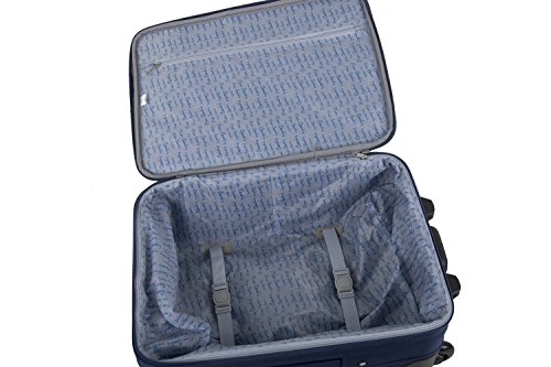 3 Maletas semirrígidas PIERRE CARDIN azul cabina para viajes S254