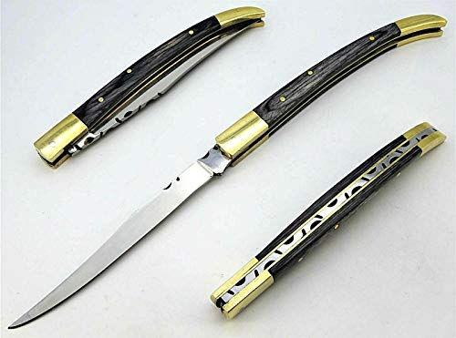 DMZ Laguiole-Taschenmesser-Spanisches Messer-Stiletto-Klappmesser -23cm- (RSV4schw)