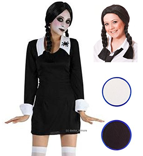 l Erwaschsene Kostüm Perücke mit & Face Paint (Childs Spider Girl Kostüm Uk)