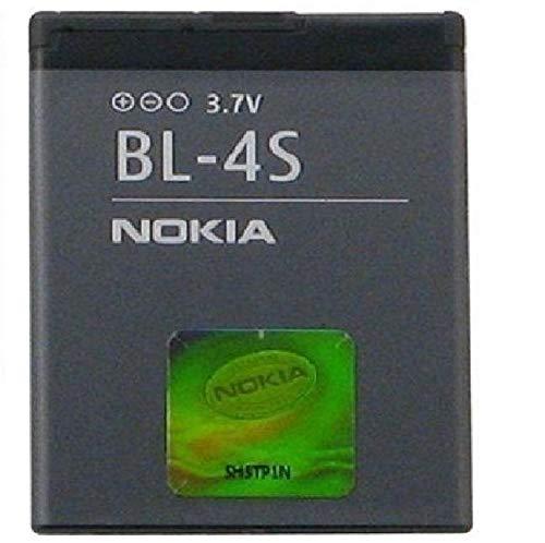 Nokia BL-4S Lithium-Ion (Li-Ion) 860mAh 3.7V Rechargeable Battery-Rechargeable Batteries (Lithium-Ion (Li-Ion), 860mAh, 3.7V, Grey, Nokia 2680slide/3600slide/3710fold/7020/7100Supernova/7610Supernova) Nokia 3600 Slide