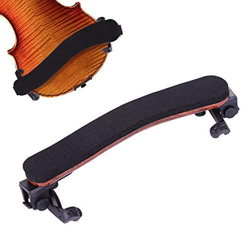 AIM - Reposamuñecas para violín de tamaño 4/4 y 3/4, almohadilla de hombro ajustable con espuma EVA suave y patas ajustables de ancho y altura, color negro