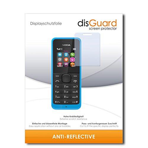 disGuard® Displayschutzfolie [Anti-Reflex] kompatibel mit Nokia New 105 Dual SIM [4 Stück] Entspiegelnd, Matt, Antireflektierend, Extrem Kratzfest, Anti-Fingerabdruck - Panzerglas Folie, Schutzfolie