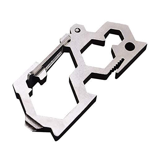 99native NEUE Multifunktions Outdoor Schnalle Keychain Klettern Wandern Karabiner Öffner, 1/4 Adapter/ein Wort Schraubendreher/Flaschenöffner (Silber) -