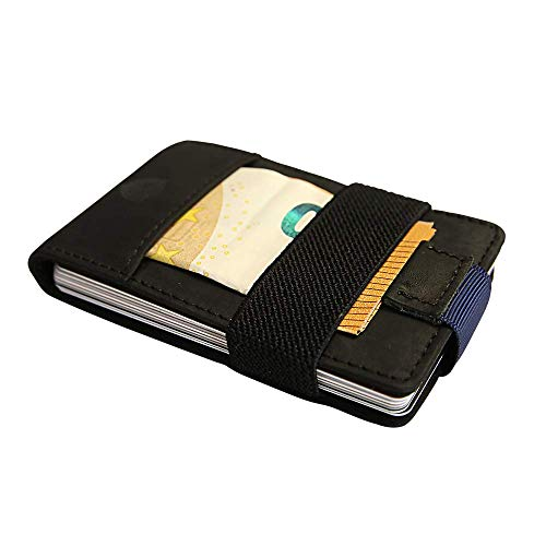 SECUREFY Nano - TÜV zertifiziertes RFID Slim Wallet - Kreditkartenetui aus Hochwertigem Leder für bis zu 15 Karten