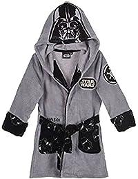 Star Wars Official Licensed Albornoz con capucha para niños, tejido de rizo