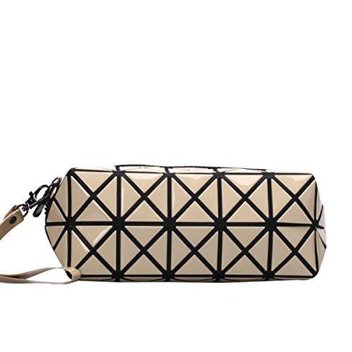 Frauen-geometrisches Muster Multi-Funktions-Verfassungs-Kosmetik-Tasche O