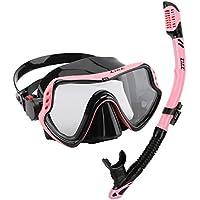 ZMZ Tauchen Schnorcheln Maske Schnorchel-Sets, Hohe Qualität Silikon, Sekuritglas und verstellbare Schnallen Tauchen Maske für Erwachsene