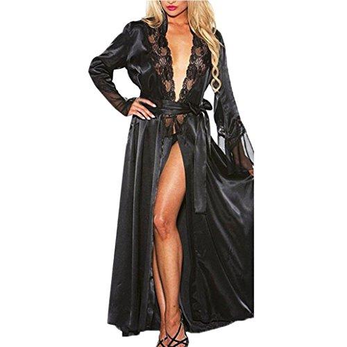 VENMO Frauen Sexy Lange Seide Kimono Morgenmantel Babydoll Dessous Bath Robe Dessous, Mode Frauen...