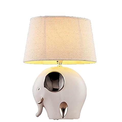 ZH Céramique Lampe Chambre Lampe De Chevet Moderne Minimaliste Créatif Mode Jolie Jardin Lampes , Elephant Lamp (Wu Guangyuan),elephant lamp (wu guangyuan)