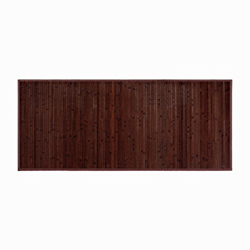 Alfombra de Madera de Bambú color Chocolate Oscuro