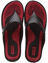 FLITE Women's Black Red Slippers-6 UK (39 1/3 EU) (FL0347L_BKRD0006)