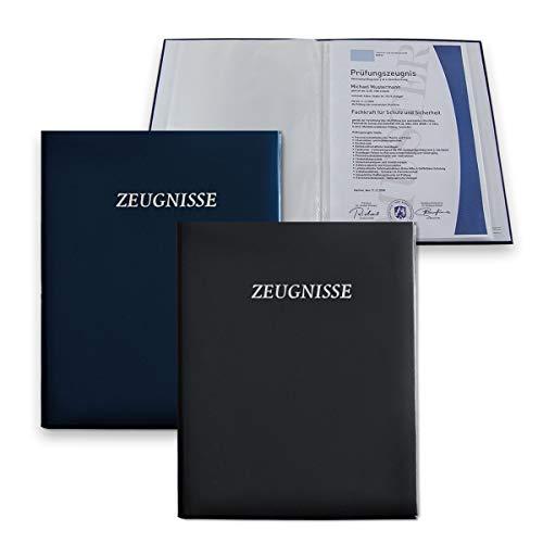blau MW Handelsgesellschaft mbH Zeugnismappe Kinder 20 Klarsichth/üllen DIN A4 Zeugnisse Dokumente neu