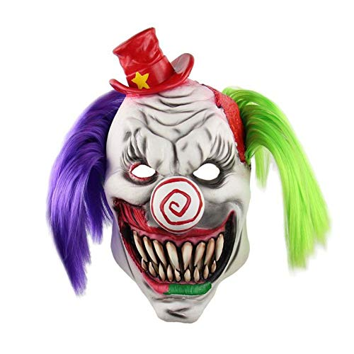 WULIFANG Ornamente Scary Maske Halloween Special Dekoration Halloween Scary Zahn Clown ()