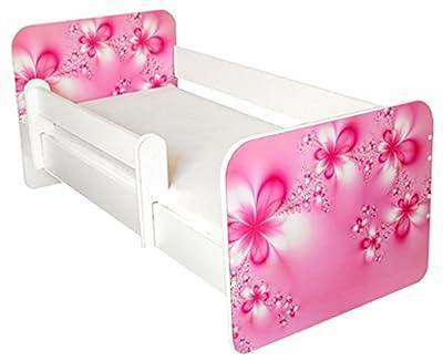 Cama infantil con colchón de libre diseño de flores