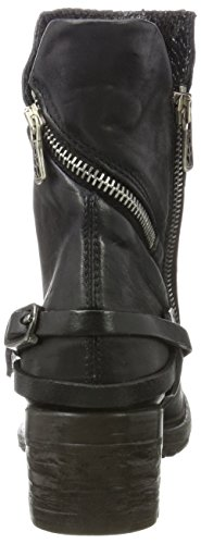 As98 Damen Nova 17 Biker Boots Schwarz (nero)