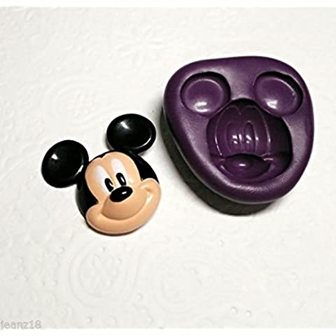 Silicone Mold 2D Mickey Mouse (31mm) Fondant Candy Chocolate Cookie Soap Clay by Simply Molds