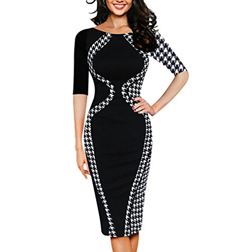 A-linie Boot-rock (Bodycon Kleider Damen, Sunday Mode Damen Reizvolles Bodycon Kurzarm Party Business Stil Bleistift Minikleid Kleid (S, Schwarz))