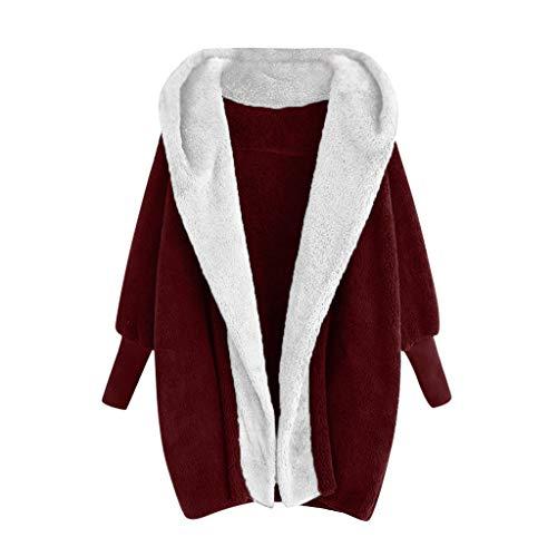 TEFIIR Damen Windjacke wasserdichte Jacke Outdoor Übergangsjacke Verschleißfeste Atmungsaktive Warme Lose Langarm Outwear Winterjacke Mode Coat Casual Mantel Steppjacke
