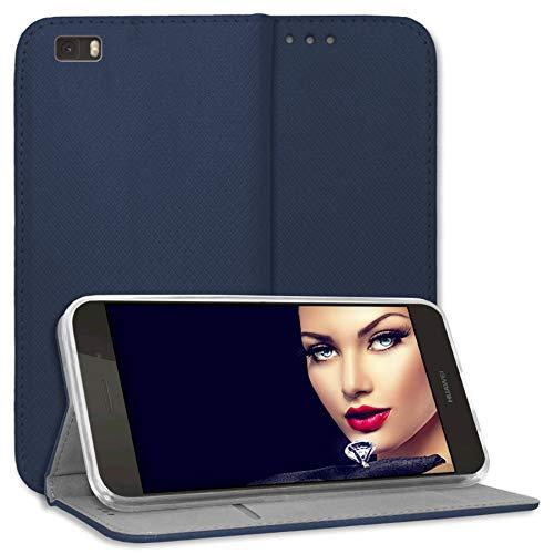 mtb more energy® Schutz-Tasche Bookstyle für Huawei P8 Lite (ALE-L21. / BJ 2015/5.0'') | blau | Kunstleder | Klapp-Cover Hülle Case