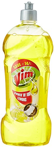 Vim Concentrated Dishwash Gel - 750 ml with Free Vim Liquid - 225 ml
