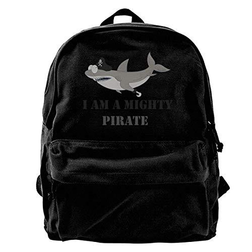 Rucksäcke, Daypacks,Taschen, Unisex Classic Canvas Backpack Mako Tiger Shark Unique Print Style,Fits 14 Inch Laptop,Durable,Black