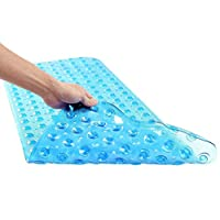 Non Slip Bath Mat Anti Slip Suction Shower Tub Mat Vinyl Material 100 x 40 cm Long Ideal For Homes Hotels Gyms Care Facilities Spas
