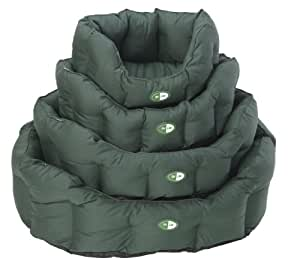 House Of Paws Waterproof Dri Line Oval Dog Bed, Small, Green