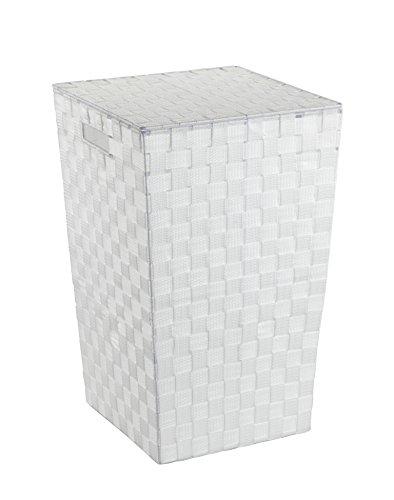 Wenko 22277100 Wäschetruhe Adria Square Fassungsvermögen 48 L, Polypropylen, weiß, 33 x 33 x 53 cm