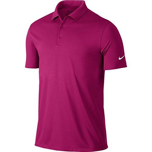 Nike M NK Dry Victory Polo à manches courtes de golf pour homme, Rose (Sport Fuchsia / White), S