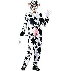 FOXXEO Costume de Vache pour Adultes Dames et Messieurs Costume d'animal, Taille : XXL