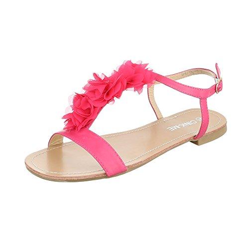 Ital-Design - Scarpe con cinturino alla caviglia Donna Pink