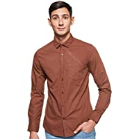 Amazon Brand - Symbol Men's Checkered Regular Fit Full Sleeve Cotton Casual Shirt (AZ-SY-RR-03_571015BST_Brown_X-Large)