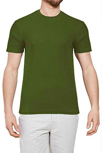 Threadbare Herren Blusen T-Shirt schwarz schwarz Small Khaki - Green