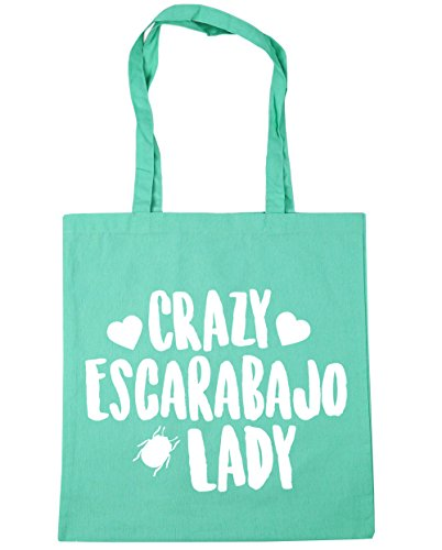 hippowarehouse-crazy-escarabajo-lady-bolso-de-playa-bolsa-compra-con-asas-para-gimnasio-42cm-x-38cm-