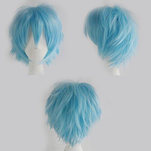 S-noilite® Unisex Kostüm Perücke Kurz Party Cosplay wig Kostueme Glatt Haar Perücken Wigs Damen Mann - (Perücke S)