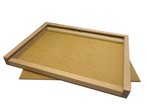 Holzschiebbox XL, Holzbox für Buntstifte, Filzstifte und Pinsel LEER (passend für 24 Avantgarde...