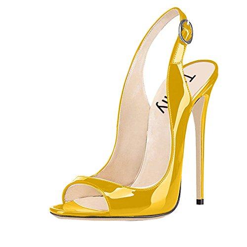 Trusify Donna 12cm EU 34-46 Trucost tacco a spillo 12CM Synthetic Sandali oro Dark
