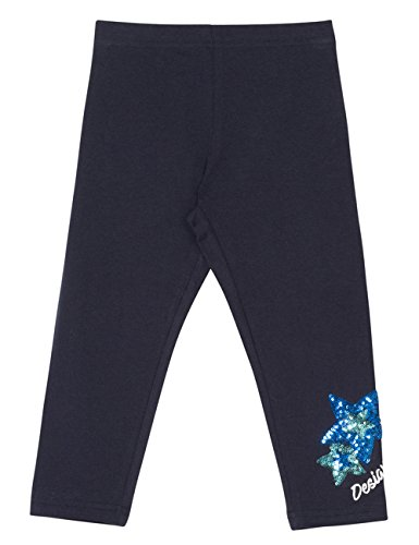 Desigual Mädchen LEGGING_FLORAL, Blau (Navy 5000), 128 (Herstellergröße: M)