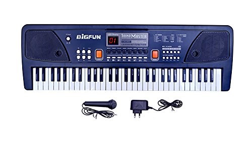 K4CARNIVAL Big Fun Piano With USB Power Option Battery oprated With mic (61 key piano)
