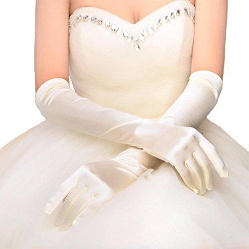 Damen lange Satin Abend Party Kostüm Handschuhe 21