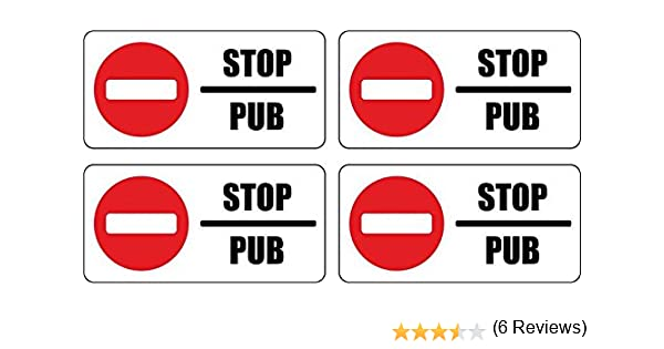 b486186ac18c7 Set 4x autocollant sticker boite aux a lettre pas de pub stop interdit  anti  Amazon.fr  Auto et Moto