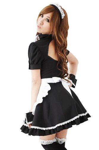 Für Frauen Kostüme Maid (Amour-Neu Sexy Lolita Maid Dienstmädchen Kostüm Karneval Einheitsgröße passt für XS zu M)