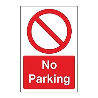 No Parking sign. 200mm x 300mm Rigid Plastic Sign (1)