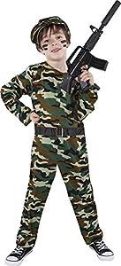 Rubies - Disfraz Combat Soldier, infantil, talla S (Rubie