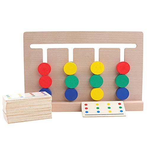 Juego 4 Colores Madera Juguete De Desarrollo Clasificacion