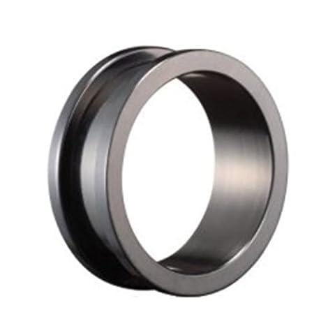 eeddoo® Black Titanium - Tunnel - 28 mm (Piercing Flesh Tunnel Ear Plug for stretched Ears Lobes